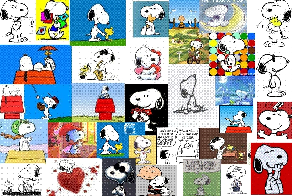 Snoopy Collage Tumblr Banners Pimp My Profile Com