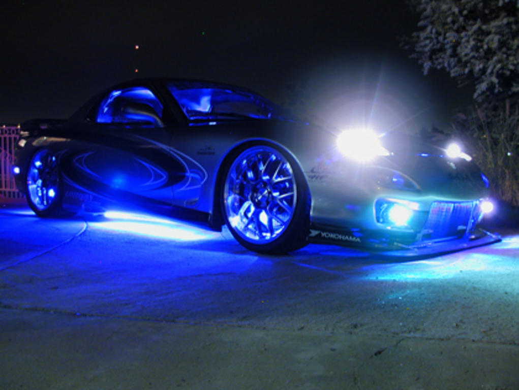 blue neon car facebook timeline cover backgrounds pimp