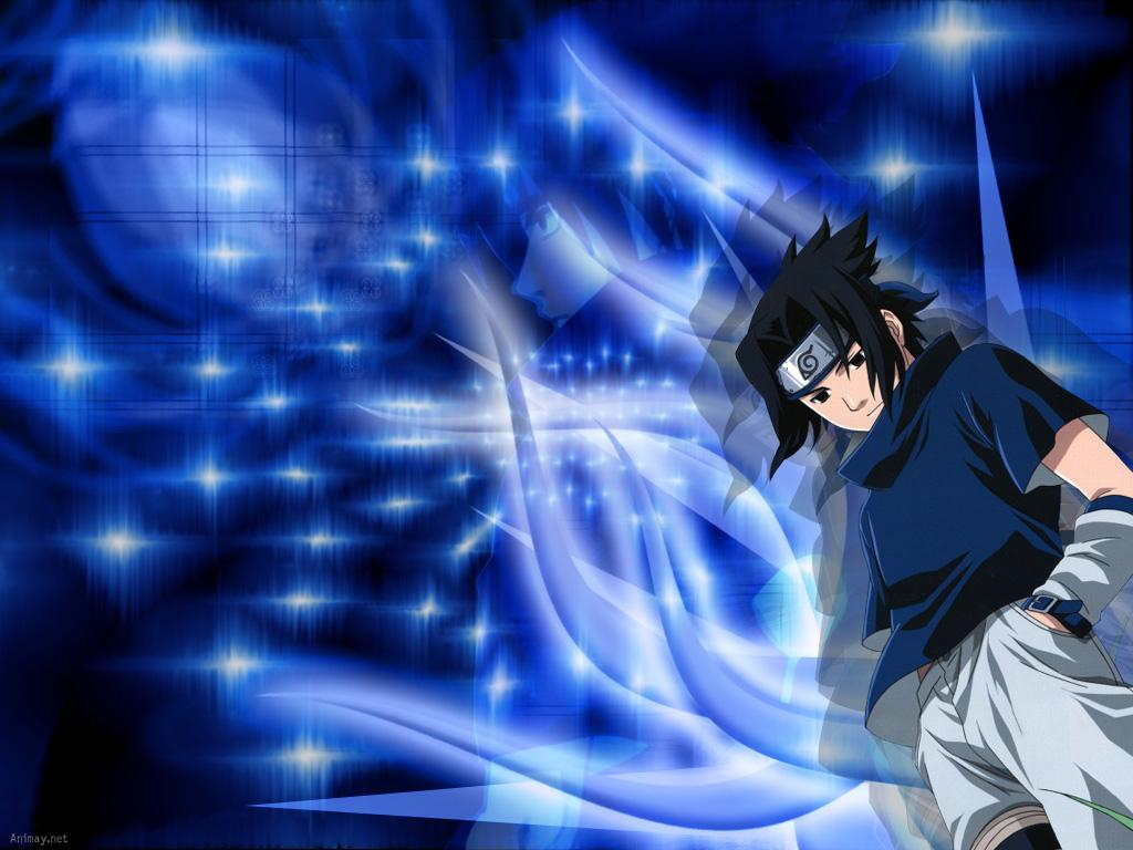 blue naruto background