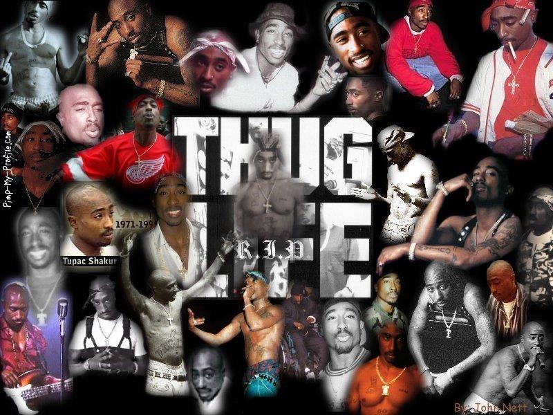 Tupac Thug Life RIP Photo Collage Tumblr Banners