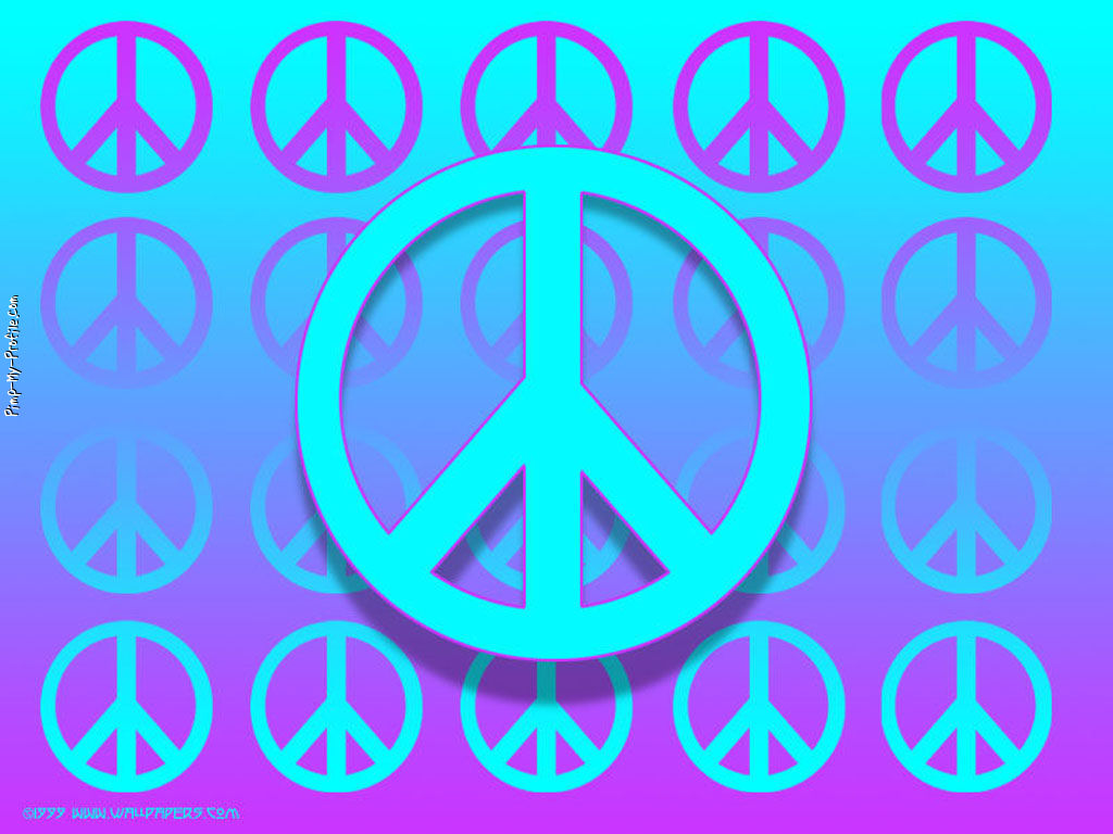 Turquoise Purple Peace Signs Facebook Timeline Cover Backgrounds