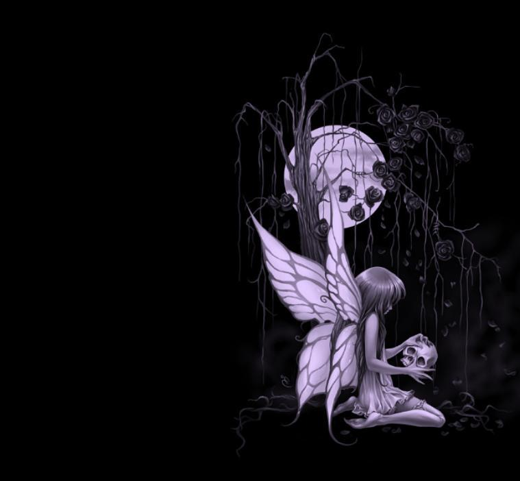 Gothic Fairy W Skull Facebook Timeline Cover Backgrounds Pimp