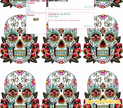 Lucky 13 Sugar Skull Tumblr Themes - Pimp-My-Profile com