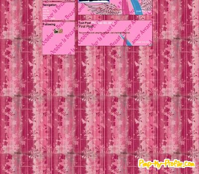 Breast cancer awareness myspace layout codes