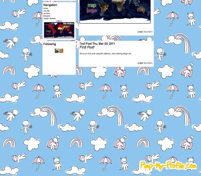 Cute sky Tumblr Themes - Pimp-My-Profile com