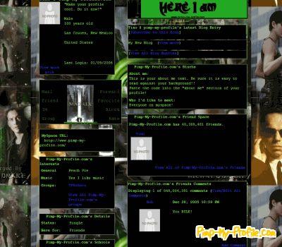 Matrix collage Twitter Backgrounds - Pimp-My-Profile.com