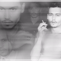 Johnny Depp Collage in Black & Whitek