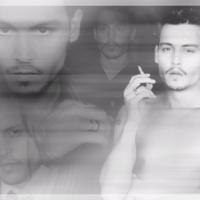 Johnny Depp Collage in Black & Whitek