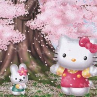 Hello Kitty & Cherry Blossoms