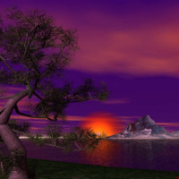 Purple Japanese Sunset