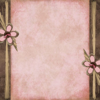 Brown & Pink Flower Design
