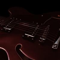 Maroon Guitar