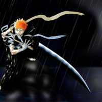 Bleach Swordsman in Rain