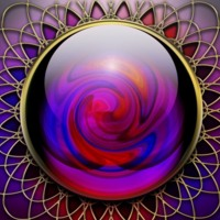 Purple, Blue & Red Swirled Gem
