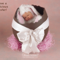 Baby Easter Bunny in Chocolate Egg