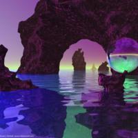 Fantasy Purple Water World