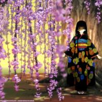 Geisha Girl & Blossoms