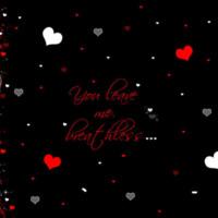 Hearts & Swirls in Red & Grey