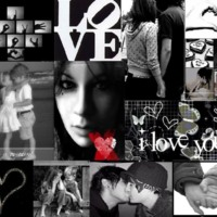 Black & White Love Collage