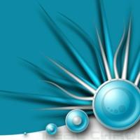 Silver & Aqua Spikey Balls