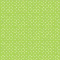Little White Daisies on LIme Green