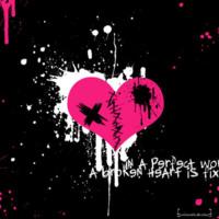 Hot Pink Broken Heart