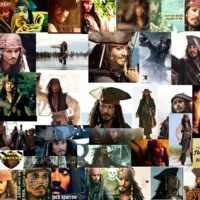 Pirates of the Caribbean Jack Sparrow Collage