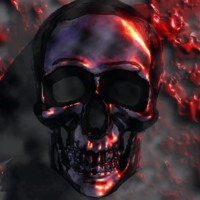 Metallic Red Skull