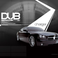 Black Dub Dodge Charger