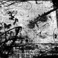 Black Text, Swirls & Butterflies