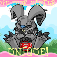 Weird Grey Easter Bunny