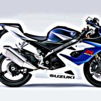 Blue GSXR Bike