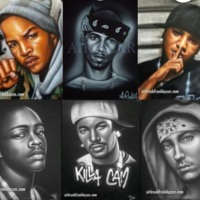 Airbrush Rappers Portraits