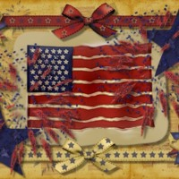 July 4th Celebration Flag