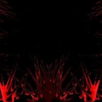 Red Splats on Black