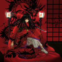 She Who Waits in the Dragon Kimono
