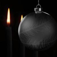 Dark Christmas Ornament
