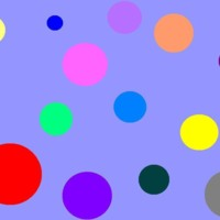 Colorful Circles on Periwinkle