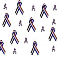 Red White & Blue Support Ribbons