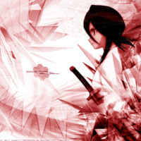 Bleach Red & White Sword Anime