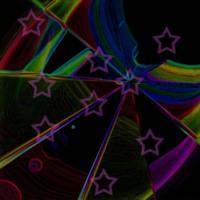 Colorful Star & Rainbows Burst