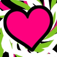 Large Hot Pink Heart & Scribbles