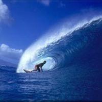 Blue Surf Wave
