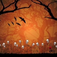 Spooky Skull Garden