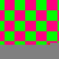 Lime green & hot pink checkers