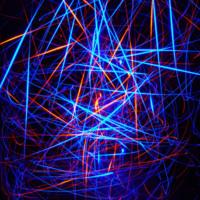 Blue & Orange Techno Lines
