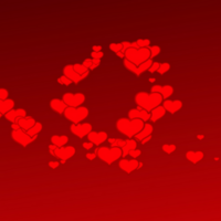 Red Hearts Floating