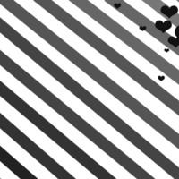Black Hearts & Grey Diagonal Stripes