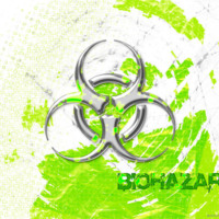 Steel Biohazard Symbol w/ Lime Green