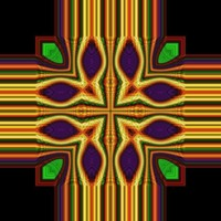 Colorful Cross Abstract